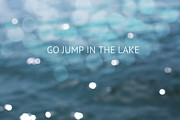 Summer Vacation Framed Prints - Go Jump In The Lake Framed Print by Kim Fearheiley