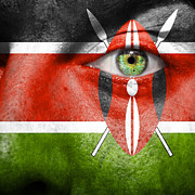 Black Eye Prints - Go Kenya Print by Semmick Photo