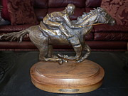 Jockey Sculptures - Go Man Go by Yvonne Cacy