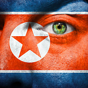 Make-up Posters - Go North Korea Poster by Semmick Photo