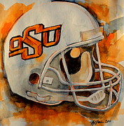 Gear Painting Posters - Go Pokes Poster by Jeffrey S Perrine