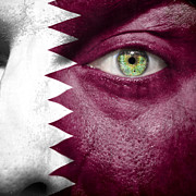 Qatar Metal Prints - Go Qatar Metal Print by Semmick Photo
