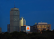 Skyline Photo Prints - Go Red Sox Print by Juergen Roth