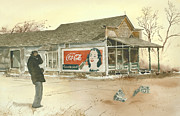 Coca-cola Sign Paintings - Go Refreshed by Monte Toon