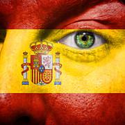 Spanish Football Prints - Go Spain Print by Semmick Photo