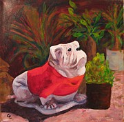 Mascot Painting Prints - Go Team Print by Cecelia Campbell