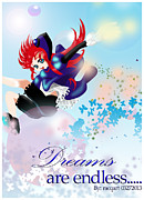 Anime Posters - Go up to your dream Poster by Racquel Delos Santos