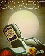 The American Dream Digital Art Posters - Go West Poster by Edmund Nagele