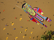 Human Being Prints - Goa, During Kite Festival Print by Nicolas Chorier