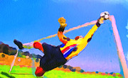 Urban Sport Prints - Goal Keeper Print by Yury Malkov