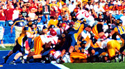 University Of Southern California Posters - Goal Line Stand Poster by Ron Regalado