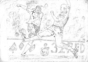 League Drawings Prints - Goal Print by Rameshsingh Rajput
