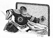 Goalie Prints - Goalie Print by Al Intindola