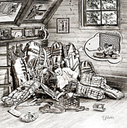 Youth Hockey Art - Goalie Dream by Elizabeth Urlacher