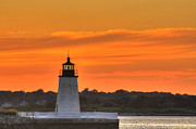 Ri Lighthouse Prints - Goat Island Light Print by Andrew Pacheco