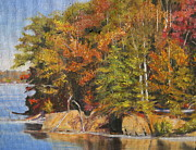Lake Wylie Prints - Goat Island Print by Shirley Braithwaite Hunt