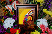 Turkey Painting Metal Prints - Gobble Gobble Metal Print by Adele Moscaritolo