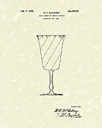 Glass Art Drawings Posters - Goblet 1926 Patent Art Poster by Prior Art Design