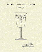 Article Posters - Goblet 1932 Patent Art Poster by Prior Art Design