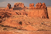 Goblin Valley State Park Framed Prints - Goblins Towers And Buttes Framed Print by Adam Jewell