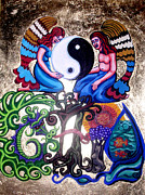 Equilibrium Metal Prints - God and Gaia Metal Print by Genevieve Esson