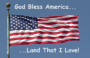 God Bless America Prints - God Bless America Print by Barbara Snyder