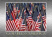 God Bless America Print by Carolyn Marshall