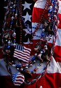 God Bless America Prints - God Bless America Flag Shirt and  Jerry Beads Print by Gail Matthews