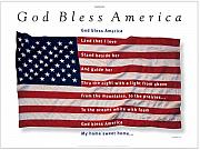 Patriotic Mixed Media Originals - God Bless America by George Delany