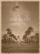 Lee Farley Framed Prints - God Bless America Framed Print by Lee Farley