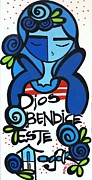 Blessings Paintings - God Bless by Mary Tere Perez