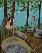 Prophetic Art Painting Originals - God calls His angels by Cassie Sears