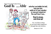 Glove Drawings Posters - God Is Able Poster by George Richardson