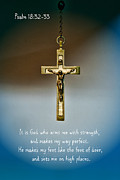 Bible Photo Posters - God is Strength Poster by Paul Ward