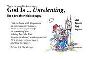 Forgiveness Drawings - God Is Unrelenting by George Richardson