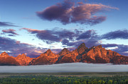 God Morning Tetons Print by Marco Crupi