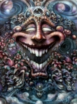 Faces Paintings - God of Laughter by David Bollt