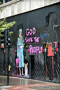 Graffiti Prints Prints - God save the people Print by RicardMN Photography