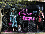 Urban Scenes Art - God Save The Queen by Jasna Buncic