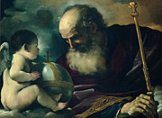 Guercino - God the Father and Angel by Guercino