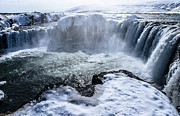 Runolfur Hauksson Prints - Godafoss. Print by Runolfur Hauksson