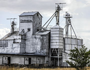 Feed Mill Photo Metal Prints - Godbold is a feed mill producer in Marfa Metal Print by Rebecca Dru