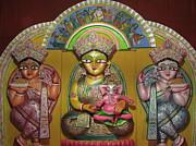 Goddess Durga Print by Pradipkumarpaswan