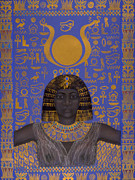 Warrior Goddess Mixed Media Posters - Goddess Isis Poster by Diana Perfect
