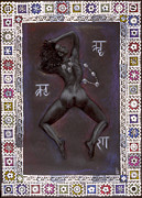 Hindu Goddess Mixed Media Metal Prints - Goddess Kali Metal Print by Diana Perfect