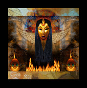 Shannon Story Posters - Goddess of Fire and Light Poster by Shannon Story