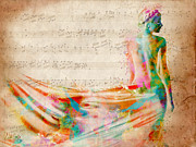 Songs Digital Art Prints - Goddess of Music Print by Nikki Smith