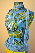 Leaves Sculpture Posters - Goddess with Apron Detail Left Poster by Jacqueline Kern