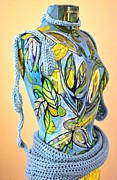 Leaves Sculpture Prints - Goddess with Apron Detail Right Print by Jacqueline Kern