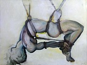Nude Art Paintings - Gods and Men by Carolyn Weltman
